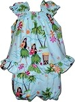 176-3660 Blue Pacific Legend Infant Romper Set
